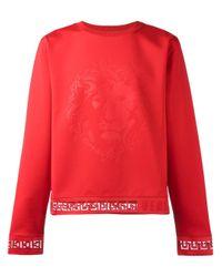 Versus - Red Lion Print Sweatshirt for Men - Lyst