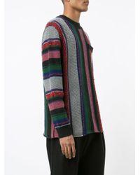 Sacai - Metallic - Vertical Stripe Jumper - Men - Cotton/acrylic - 4 for Men - Lyst