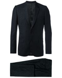 Paul Smith | Black Tonal Embroidery Two-piece Suit for Men | Lyst