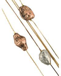 Rosantica - Metallic Layered Long Necklace - Lyst