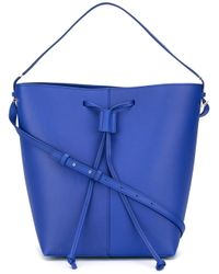 PB 0110 | Blue Drawstring Shoulder Bag | Lyst