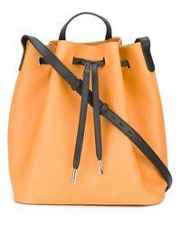 PB 0110 | Orange Bucket Shoulder Bag | Lyst