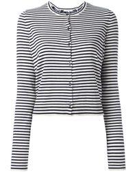 Dorothee Schumacher | Blue - Striped Cardigan - Women - Silk/polyamide/spandex/elastane/cashmere - 5 | Lyst