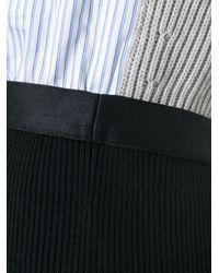 Maison Margiela   Black Striped Buttoned Flared Dress   Lyst