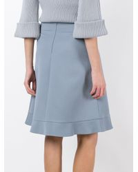 RED Valentino - Blue A-line Skirt - Lyst
