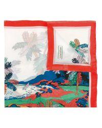 Emilio Pucci | Multicolor Palm Tree Print Scarf | Lyst