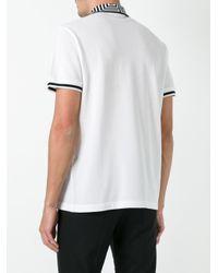 Versace - White Greca Key Collar Polo Shirt for Men - Lyst