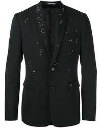 Dior Homme | Black - Embellished Blazer - Men - Polyurethane/cupro/wool/metal - 46 for Men | Lyst