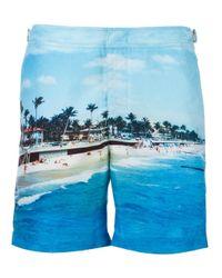 Orlebar Brown | Blue - Beach Print Swim Shorts - Men - Polyester - 30 for Men | Lyst
