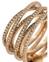 Michael Kors - Metallic Studded Ring - Lyst