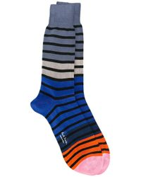 Paul by Paul Smith - Blue - Striped Socks - Men - Cotton/polyamide - One Size for Men - Lyst