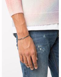 Luis Morais - Gray Small Mini Skull 'wg' Bracelet for Men - Lyst