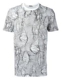 Dior Homme | White - Broken Stitch Print T-shirt - Men - Cotton - S for Men | Lyst