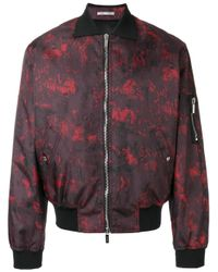 Dior Homme | Red Abstract Print Bomber Jacket for Men | Lyst