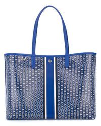 Tory Burch | Blue Large Chain Print Tote Bag | Lyst