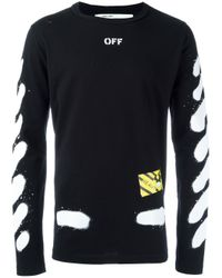 Off-White c/o Virgil Abloh | Black 'diag Spray' T-shirt for Men | Lyst