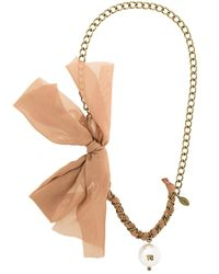 Twin Set | Multicolor Stone Necklace | Lyst
