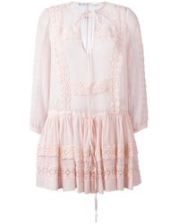 Givenchy | Pink Broderie Anglaise Trim Top | Lyst