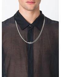 Maison Margiela - Metallic Gender Symbol Multi-strand Necklace for Men - Lyst