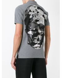 Philipp Plein | Gray Chemical Polo Shirt for Men | Lyst