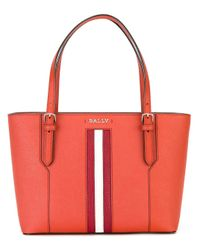 Bally | Multicolor - Striped Trim Tote - Women - Calf Leather - One Size | Lyst
