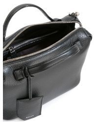 Bally   Black Striped Strap Shoulder Bag   Lyst