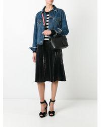 Bally - Black Striped Strap Shoulder Bag - Lyst