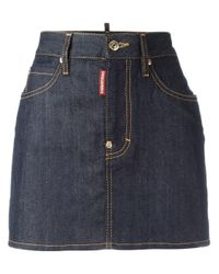 DSquared² | Blue Classic Denim Skirt | Lyst