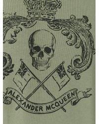 Alexander McQueen - Green Skull Crest Print Sweatshirt for Men - Lyst