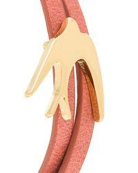McQ - Red Bird Wrap Bracelet - Lyst