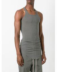 Rick Owens - Green Curved Hem Tank Top for Men - Lyst