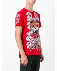 Philipp Plein - Red Philipp Tiger T-shirt for Men - Lyst