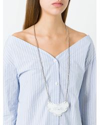 MM6 by Maison Martin Margiela | Metallic 'whisky' Long Necklace | Lyst