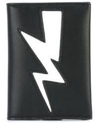 Neil Barrett - Black Lightning Bolt Wallet for Men - Lyst