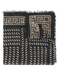 Versace | Blue Diagonal Stripe Pattern Shawl for Men | Lyst