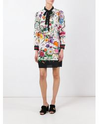 Gucci - Multicolor Floral Snake Print Dress - Lyst