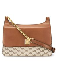 MICHAEL Michael Kors | Brown Logo Print Shoulder Bag | Lyst
