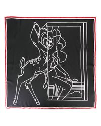 Givenchy - Black Bambi Print Scarf - Lyst