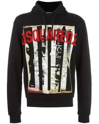DSquared² | Black Dean Hoodie for Men | Lyst