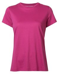 VINCE | Pink - 'compact' T-shirt - Women - Supima Cotton - S | Lyst