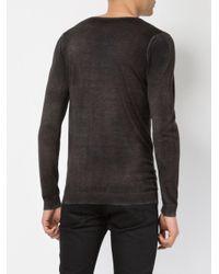 Avant Toi - Gray Distressed V-neck Jumper for Men - Lyst