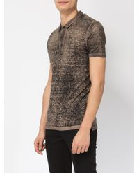 Avant Toi - Green Distressed Knit Polo Shirt for Men - Lyst