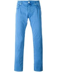 Jacob Cohen | Blue Slim-fit Trousers for Men | Lyst