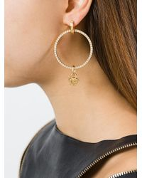 Versace - Metallic Greca And Medusa Hoop Earrings - Lyst