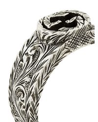 Gucci - Metallic Small Interlocking G Ring - Lyst