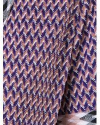 Missoni - Purple Zig-zag Shortsleeved Belted Cardigan - Lyst