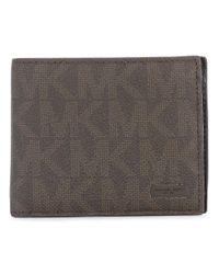 bca83daeb728 Lyst - MICHAEL Michael Kors Logo Embellished Wallet in Brown for Men