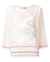 Forte Forte | Multicolor Embroidered Blouse | Lyst
