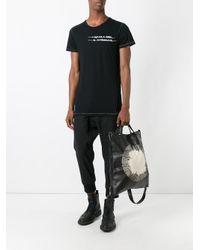 Ann Demeulemeester Grise - Black Birds Print T-shirt for Men - Lyst