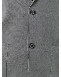 Lanvin - Gray Blazer Design Cardigan for Men - Lyst